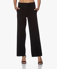 Pomandère Brushed Twill Pants - Black