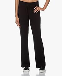 Plein Publique Le Lourdes Knitted Merino Blend Pants - Black