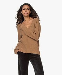Rag & Bone Pierce Cashmere V-neck Sweater - Camel