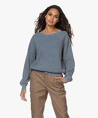 American Vintage Bowilove Wafelsteek Sweater - Vintage Ocean