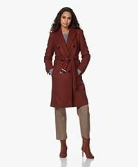 Drykorn Holman Wool Blend Coat - Mahagony