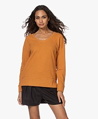 Denham Showa Scoop Neck Sweater - Thai Curry