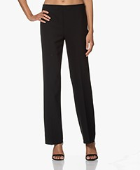 no man's land Straight Leg Stretch Pants - Black