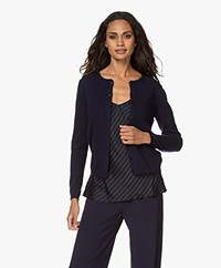 Resort Finest Lucca Basic Cashmere Cardigan - Navy