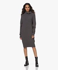 Woman by Earn Annie Merino Knitted Turtleneck Dress - Mid Grey