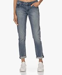 Denham Monroe Shirav Girlfriend Fit Jeans - Blauw