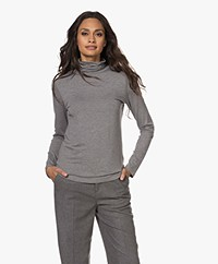 Repeat Long Sleeve with Turtleneck - Medium Grey