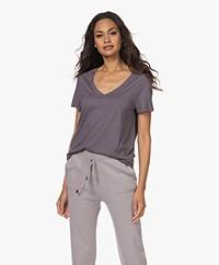 HANRO Modalmix V-hals T-shirt - Titanum