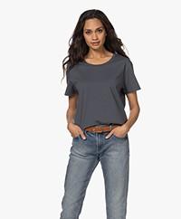 Denham Emma Katoenen Ronde Hals T-shirt - India Ink