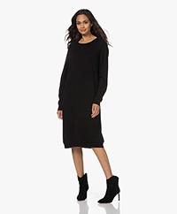 Sibin/Linnebjerg Cannes Knitted Merino Wool Blend Dress - Black