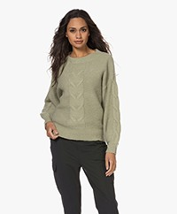 Repeat Alpaca Blend Round Neck Sweater - Sage