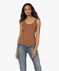 LaSalle Lyocell Blend Tank Top - Toffee