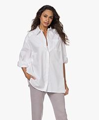 Josephine & Co Timme Oversized Cotton Shirt - White