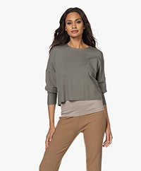 Majestic Filatures Soft Touch Cropped Sweatshirt - Graphite