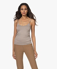 Majestic Filatures Anais Soft Touch Jersey Spaghetti Strap Top - Galet