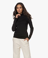 Drykorn Larni Jersey Turtleneck Colshirt - Black