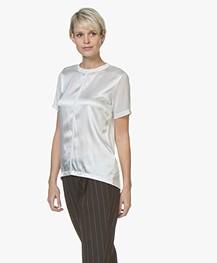 BOSS Efrona Silk Blend T-shirt - Open White
