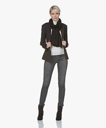 Denham Spray Super Tight Fit Jeans met Verfspatten - Grijs