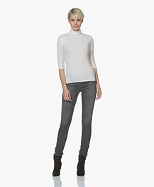 Denham Spray Super Tight Fit Jeans with Paint Splashes - Grey