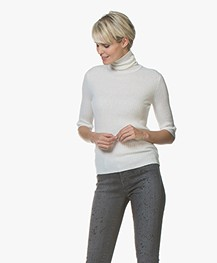 K Neck Roller Flat Off 1006 Filippa Rib 25734 Sweater White FqwSxdB