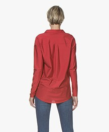 JapanTKY Grabu Shiny Travel Jersey Blouse - Rood