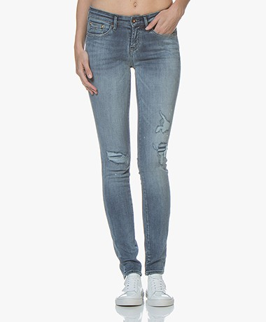 Denham Sharp Skinny Fit Jeans - Mid-blue
