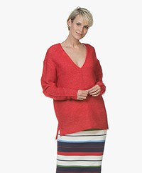 By Malene Birger Aminis Mohair Pullover - Bright Red