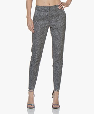 BOSS Acnes Stippenprint Twill Pantalon - Zwart/Wit