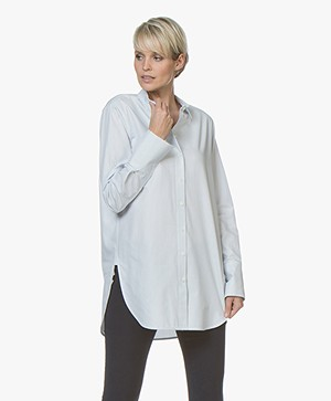 By Malene Birger Likarah Krijstreep Blouse - Blue Bonnet