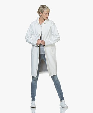 Petit Bateau Try Coated Urban Rain Coat - Marshmallow