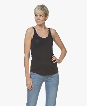Filippa K Scoop Neck Jersey Tank - Navy