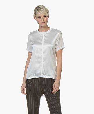 BOSS Efrona Silk Blend T-shirt - Open White