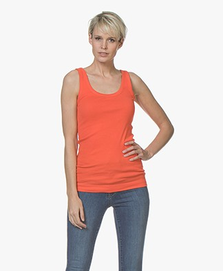 By Malene Birger Ribbed Tank Top Newdawn - Fire