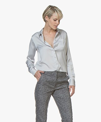 Denham Adventure Satin Blouse - Sword Grey