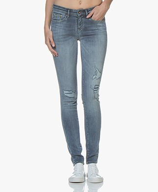 Denham Sharp Skinny Fit Jeans - Middenblauw