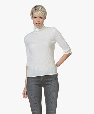 Filippa K Flat Rib Roller-Neck Sweater - Off-white