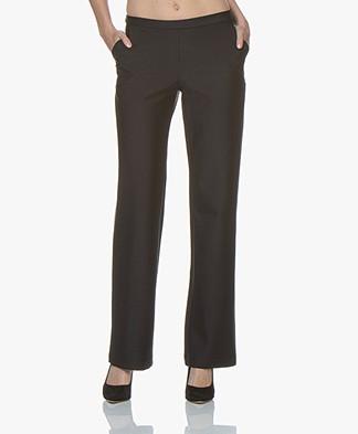 JapanTKY Mimis Ponte Jersey Pants - Black