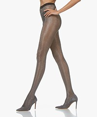 FALKE Highshine 20 Den Lurex Tights - Black/Silver