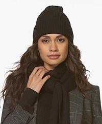 Filippa K Rib Hat - Black