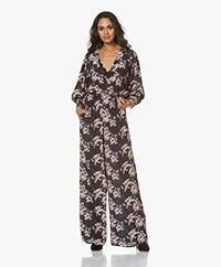 IRO Mexi Floral Printed Viscose Jumpsuit - Black