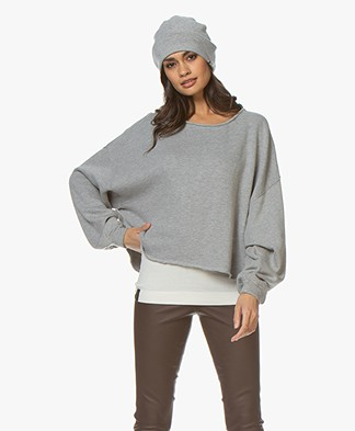 extreme cashmere N°77 Bijou Cashmere Muts - Grijs