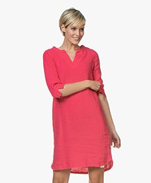 Josephine & Co Carola Linen Tunic Dress - Fuchsia