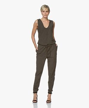 JapanTKY Nelli Travel Jersey Print Jumpsuit - Linen