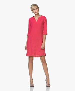 Josephine & Co Carola Linen Tunic Dress - Fuchsia