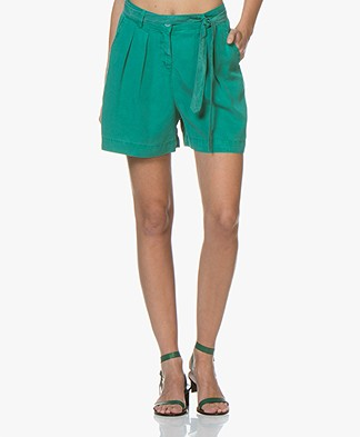 indi & cold Lyocell Bermuda Shorts - Verones