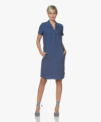 Josephine & Co Cas Linen Shirt Dress - Jeans