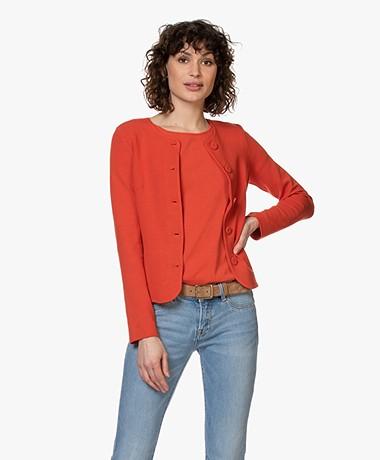 Kyra & Ko Cadence Crepe Jersey Blazer Cardigan - Red