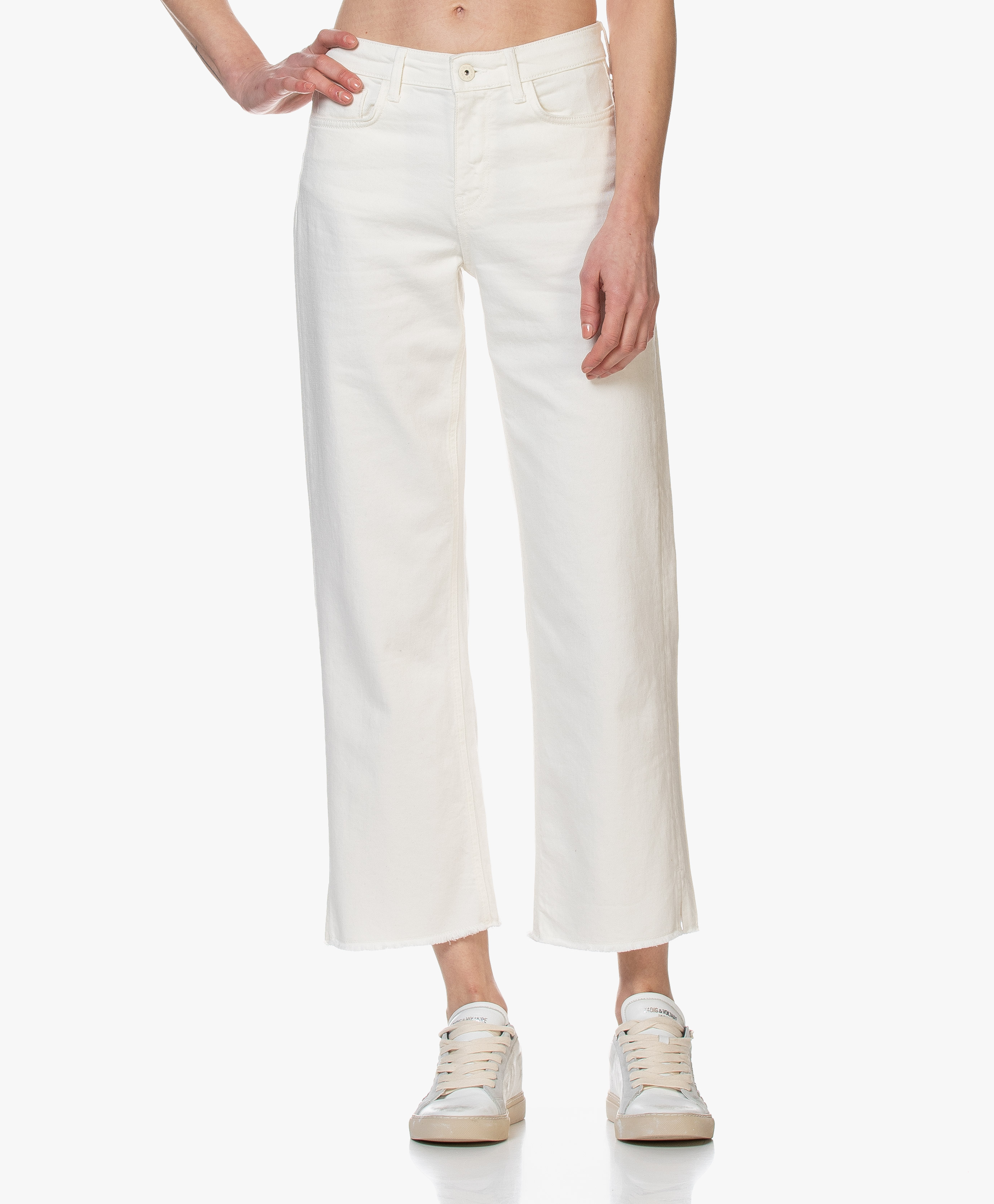 by bar Mojo Straight Cropped Jeans Off white mojo
