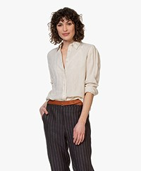 no man's land Puur Linnen Blouse - Beige