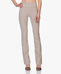 JapanTKY Zaya Flared Travel Jersey Pants - Sand